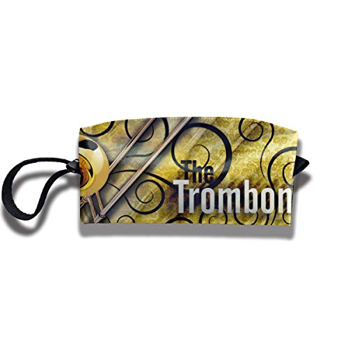 (Coin Pouch Trombone Pen Holder Clutch Wristlet Wallets Purse Portable Storage Case Cosmetic Bags Zipper)