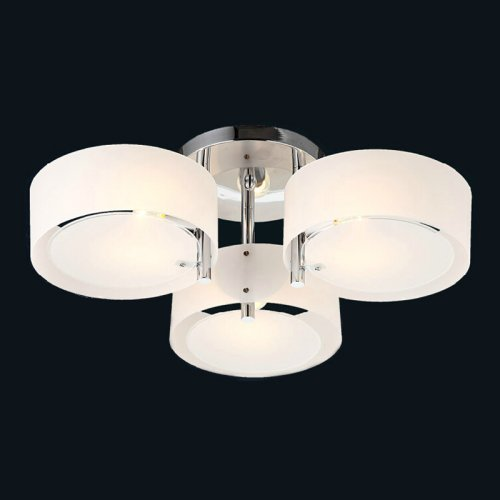 LightInTheBox Modern/Contemporary Acrylic Chandelier with 3 lights Chrome Finish Mini Style Flush Mount for Living Room Dining Room, Bedroom by LightInTheBox