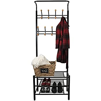Sorbus Coat Shoe Racks Bench - Hallway Entryway Coat Rack with Storage - Shoe Bench Organizer  sc 1 st  Amazon.com & Amazon.com: Sorbus Coat Shoe Racks Bench - Hallway Entryway Coat ...