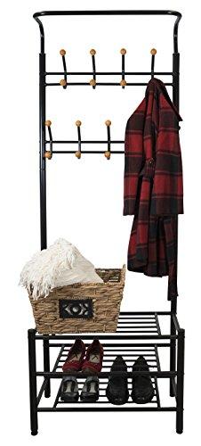 Foyer Bench Coat Rack - 2