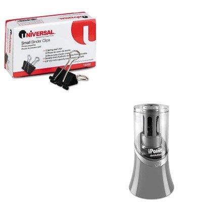kitacm15085unv10200 – Valueキット – Westcott iPoint Evolutionリサイクル電動鉛筆削り器( acm15085 )とユニバーサル小さなバインダークリップ( unv10200 ) B00MOO65CM