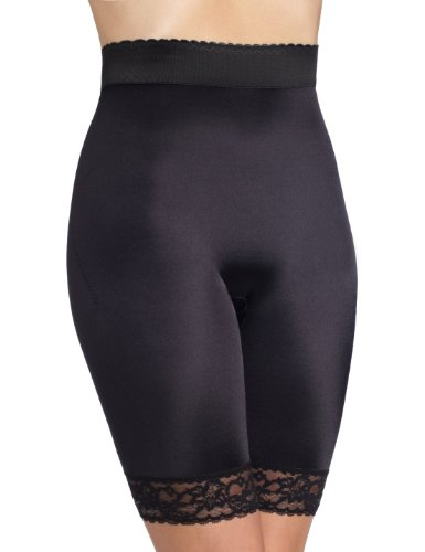 Rago Women's Plus-Size Hi Waist Bike Shaper, Black, 8X-Large (46) (Rago Lace Panties)