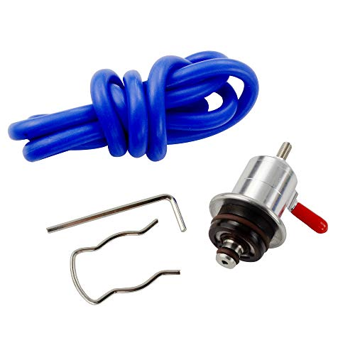 PQYRACING Adjustable Fuel Pressure Regulator Compatible for for VW Golf Jetta Passat Audi ()
