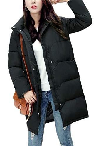 EKU Lightweight Down Women's Black Loose Coat Long Puffer Packable RZORrqwv