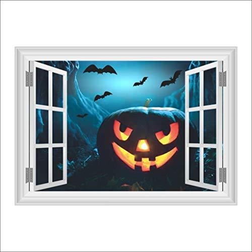 SUKEQ 3D Halloween Wall Sticker Pumpkin Household Room Floor Mural Home Decal Wall Paper, 19.68