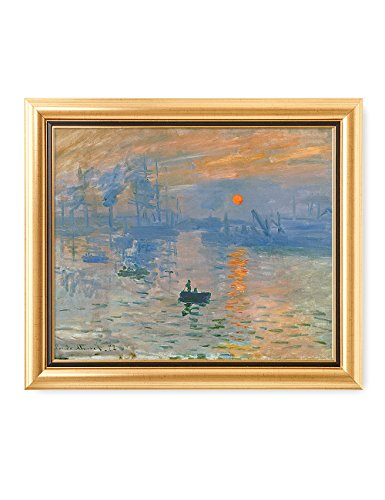 DecorArts - Impression Sunrise, Claude Monet Classic Art. Giclee Prints Framed Art for Wall Decor. Framed size: 29x25