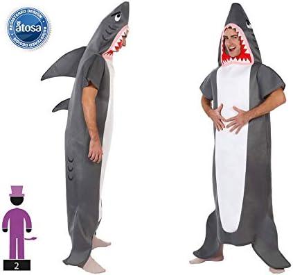 Atosa-63325 Atosa-63325-Disfraz Tiburon-Adulto XL- Hombre- gris ...