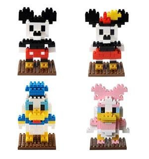 - Set of 4 Mickey Minnie Donald Daisy nano block [ Disney Resort Limited popular
