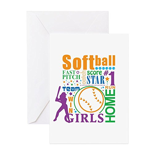 CafePress - Bourne Softball - Greeting Card, Note Card, Birthday Card, Blank Inside Matte - Infield Grass