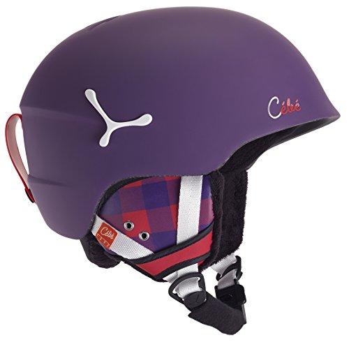 CEBE SUSPENSE DELUXE SKI HELMET (MATTE VIOLET SQUARE SIZE - Ski Helmets Cebe