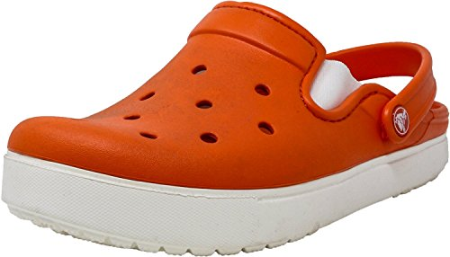 Unisex CitiLane Crocs White Clog Tangerine 6SFnBnpqw