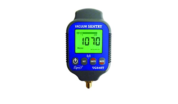 0-19000 microns Range 10/% Accuracy LCD Display 1//4 Male Flare Fitting Connection Supco VG640   Vacuum Sentry With Local Alarm