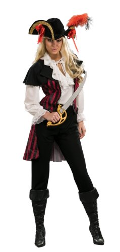 [Rubie's Costume Maria La Fey Pirate Captain, Multicolored, One Size Costume] (Halloween Pirate Woman Costumes)
