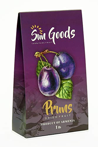 Prunes Healthy Snack - Non-GMO - Dried Fruit - Dried Black Armenian Delicious Prune - 16 Ounce -Pitted Plums - Healthy Fruit & Veggie Snacks - Dry Fruits - Sun-dried - Nutrition - Unsweetened (Best Dried Fruit For Iron)