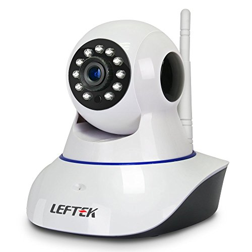 LEFTEK Security Camera Smart Home Guard 720P WIFI Home Security CCTV Surveillance Camera P2P Infrared Night Vision Two Way Audio Motion Detection And more by LEFTEK