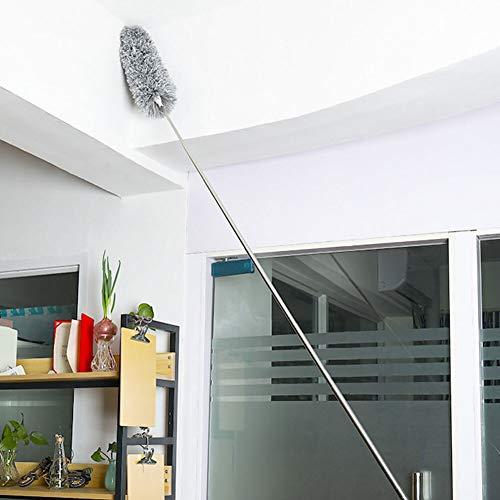 XKMY Stofborstel Lange Handvat Telescopische Pole Wasbaar Uitschuifbare Duster Statische Rvs Buigbare Borstel Verlengt…