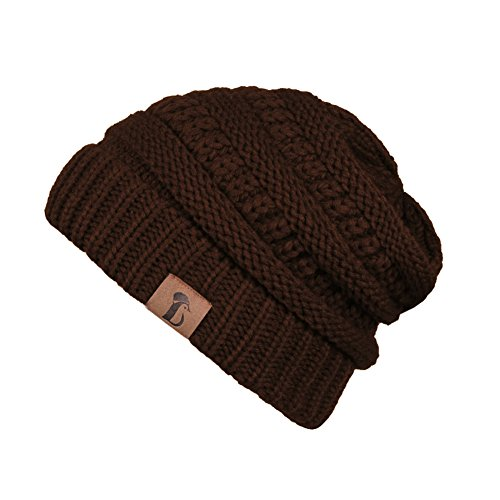 Winter Warm Soft Thick Stretch Trendy Cable Knit Skully Beanie Cap (Set of Two)
