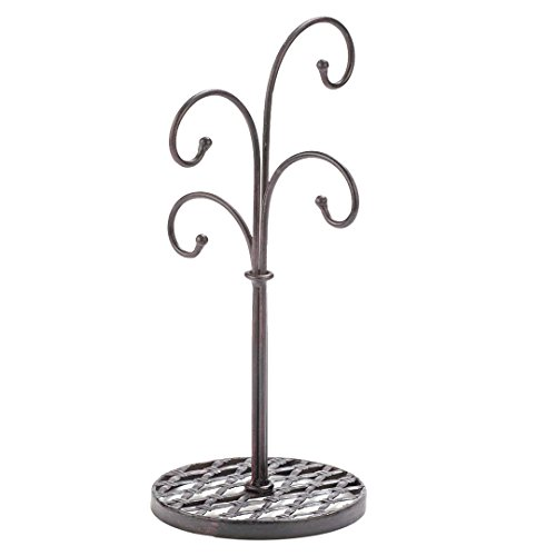 - Red Co. Curved Tree 4 Arm Metal Kitchen Stand Cups and Mugs Holder in Mahogany Finish - 16