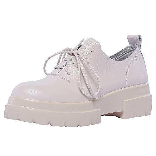 Bianco Suola Allacciare Sneaker Moda Chiusa Piattaforma Donna Scarpe Ggudd q7n6pZa7