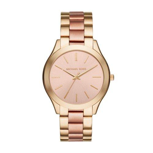 Michael Kors Women's Slim Runway Gold-Tone Watch MK3493