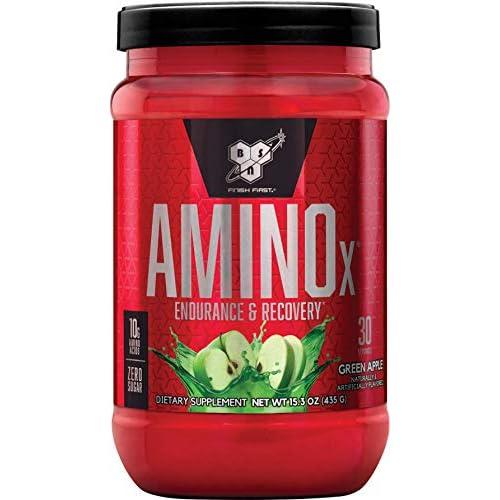 BSN Nutrition Amino X, Suplementos Deportivos BCAA Polvo con Aminoacidos Esenciales y Vitamina D, Aminoacidos BCAA para Musculacion, Manzana Verde, 30 Porciones, 435g a buen precio