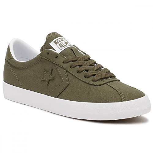 Converse Womens Breakpoint Ox Medium Olive White Canvas Trainers 38 EU