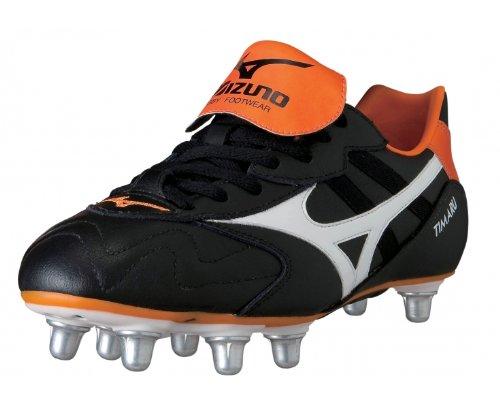 MIZUNO Timaru Scarpa da Rugby Uomo Nero/Arancione Venta Barata Cómoda NbG6CNiu