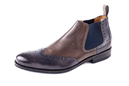 Melvin & Hamilton Herren Andrew 11 Chelsea Boots Blau Grau