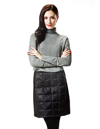 XPOSURZONE Women Packable Quilted Down Skirt