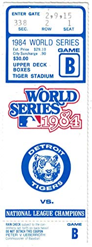 1984 World Series Game 4 Ticket Stub Detroit Tigers vs San Diego Padres