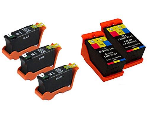 Compatible Y498D GRMC3 Printer Cartridge 5 Pack