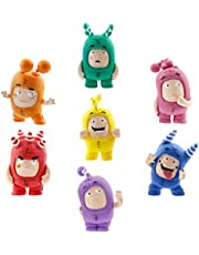 ODDBODS Toy Set of Mini Figurines for Preschool Kids (Ages 3+), red, orange, yellow, green, blue, pink, purple