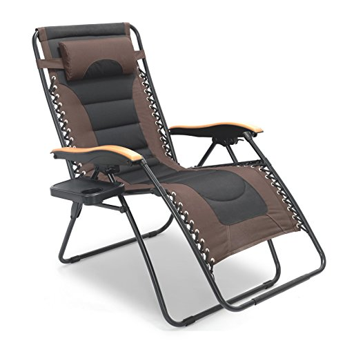 LUCKYBERRY Zero Gravity Chair Oversized Lounge Patio Chairs...