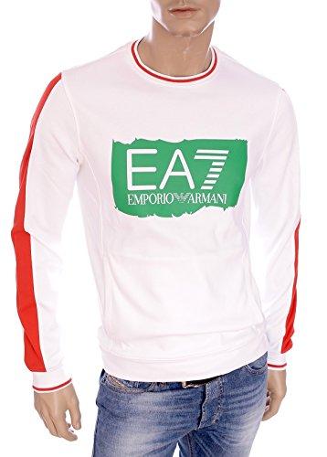 EA7 Train blanc olympique graphique Sweatshirt X-Large