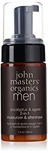 John Master Organics Men 2-In-1 Moisturizer/Aftershave, Eucalyptus/Agave, 3 Fluid Ounce