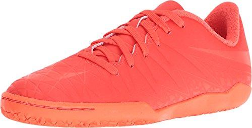 Nike Kids' Jr. Hypervenom Phelon II IC Indoor Soccer Shoe (Sz. 4Y) Bright Crimson, Hyper Orange