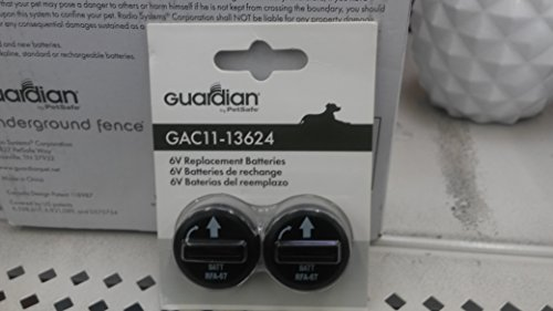 Collar Instant Fence (Guardian 6V Replacement Batteries 6-Volt GAC11-13624 For Dog Pet Collar 2-Pack)