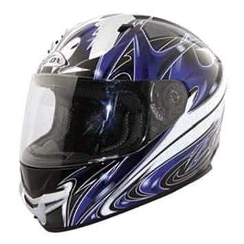 ZOX Primo R Spear Graphic Full Face casco de moto (azul/negro, XXL