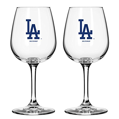 (MLB Los Angeles Dodgers Game Day Wine Glass, 12-ounce, 2-Pack)