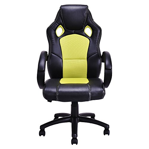 Eight24hours High Back Race Car Style Bucket Seat Office Desk Chair Gaming Chair Green New by Eosphorus