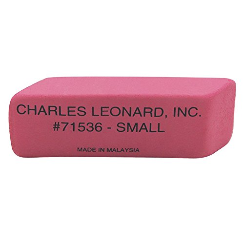 Charles Leonard CHL71536BN Pink Economy Wedge Erasers - Pack of 2 by Charles Leonard Inc