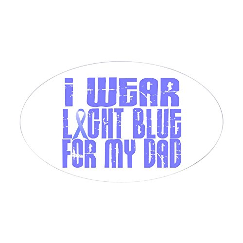 CafePress - I Wear Light Blue 16 (Dad) Oval Sticker - Oval Bumper Sticker, Euro Oval Car (Large White Oval Exterior Light)