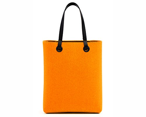 Hey-Sign Allrounder Tasche M, orange 100% Schurwolle 32x40x14cm