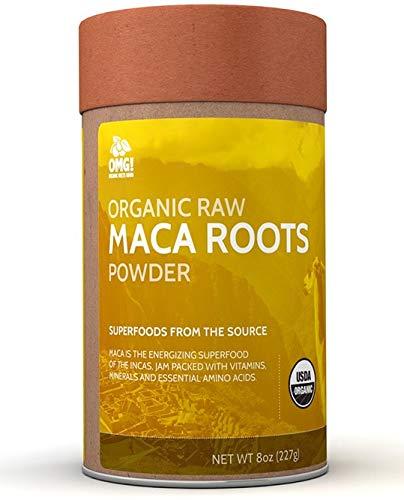 OMG! Superfoods Organic Maca Powder - 100% Pure, USDA Certified Organic Maca Root Powder - 8oz
