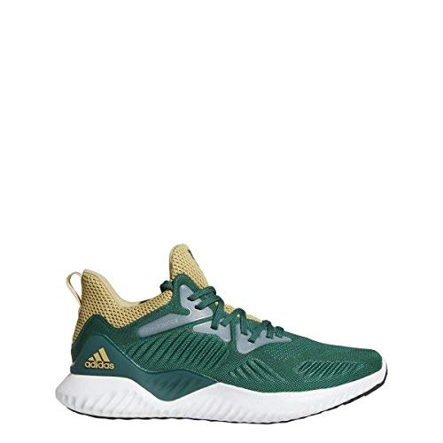 adidas Alphabounce Beyond NCAA Shoe Mens Running 7 Dark Green-Sand-Green by adidas (Image #3)