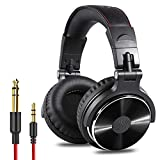 OneOdio Adapter-Free Closed Back Over-Ear DJ Stereo Monitor Headphones, Professional Studio Monitor & Mixing, Telescopic Arms with Scale, Newest 50mm Neodymium Drivers - Black: more info