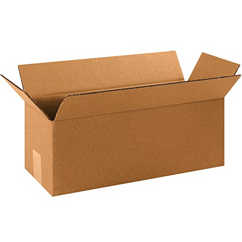 Aviditi 1655 Corrugated Boxes, Long 16' x 5' x 5', Kraft (Pack of 25)