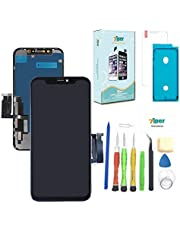 Screen Replacement for iPhone 11 (6.1 inch) A2111, A2223, A2221 Touch Screen Complete Repair kit - Digitizer Display Glass Replacement with Back plate, Repair Tools, Waterproof Adhesive