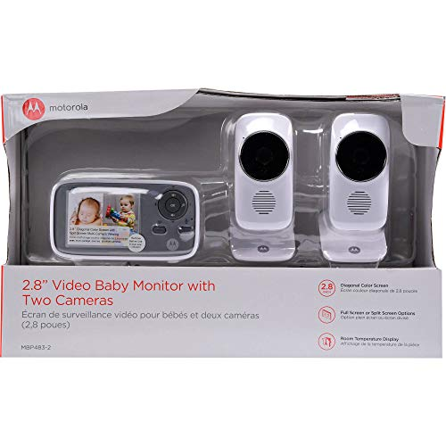 "Motorola 2.8"" Video Baby Infant Monitor 2 Two Cameras, MBP48"
