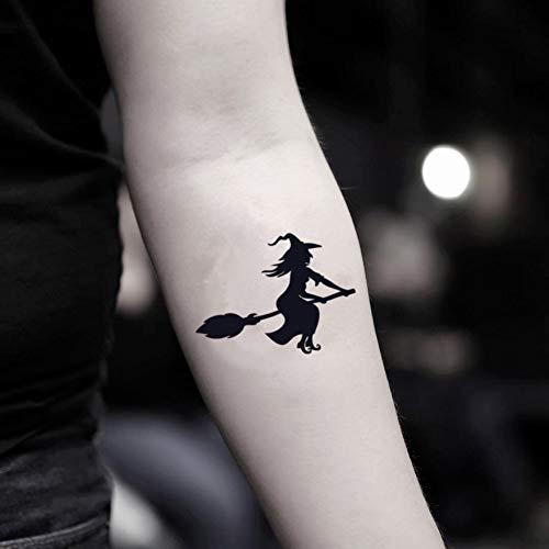 Halloween Witch Temporary Fake Tattoo Sticker (Set of 2) - www.ohmytat.com ()